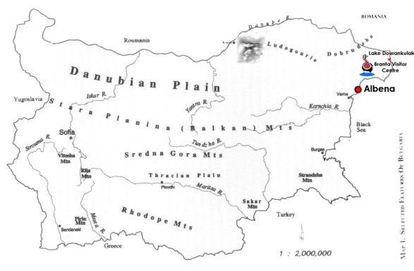 danube river bulgaria map